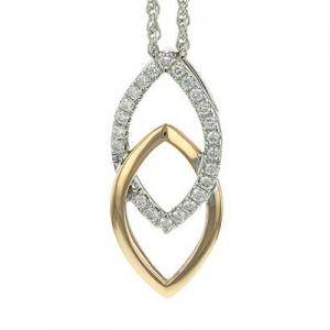 Two Tone Diamond Necklace